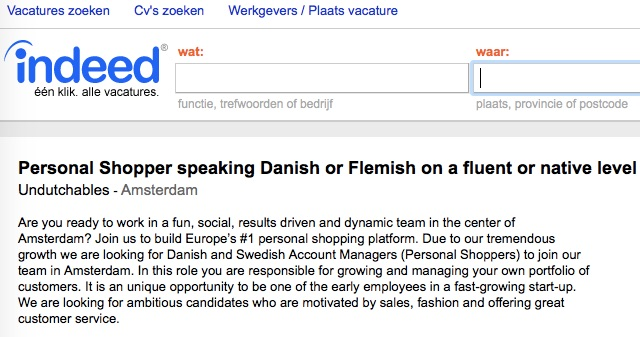 Personal_Shopper_speaking_Danish_or_Flemish_on_a_fluent_or_native_level_Amsterdam_Vacature_-_Undutchables_-_Amsterdam___Indeed_nl