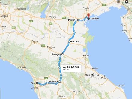 7 - Pisa__Italië_naar_Venetië__Italië_-_Google_Maps