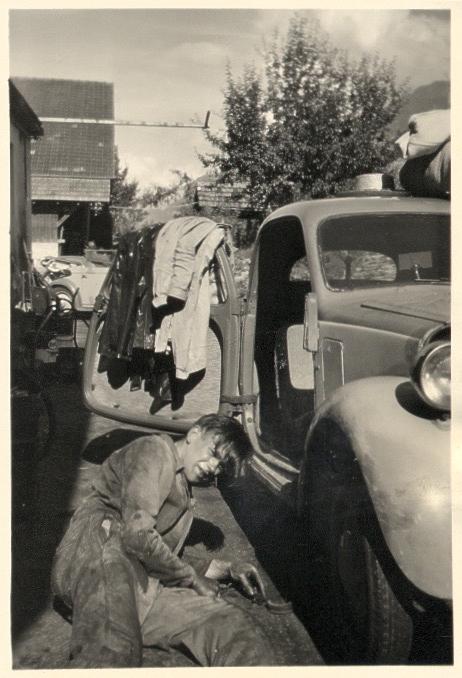 papa en de fiat aug 1951 garage muller goldswil