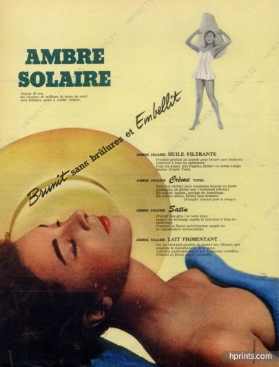ambre-solaire-cosmetics-1956-photo-harry-meerson-hprints-com