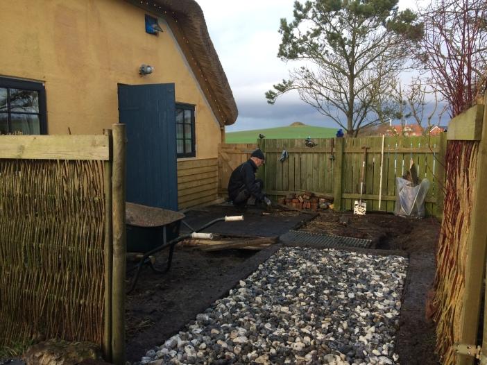 Boerderijtje, rieten dak, platteland, Jutland