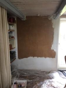 muur zonder behang