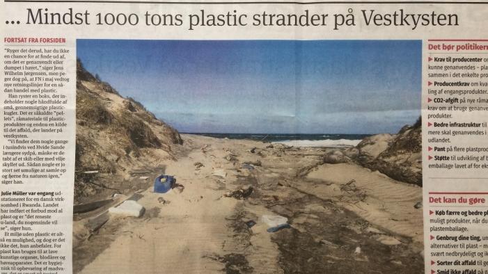 Plastic på stranden, plastic op het strand, Thy, Deense westkust