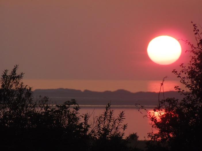 zon onder boven Agger Tange 26 augustus
